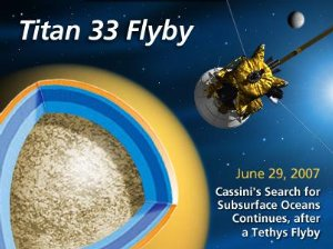Cassini to Fly By Tethys and Titan