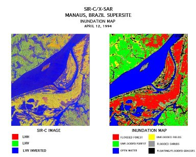 Manaus inundation map