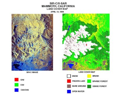 Mammoth land cover map