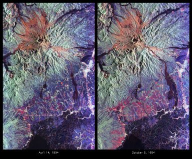 Mount Pinatubo, Philippines L, C bands