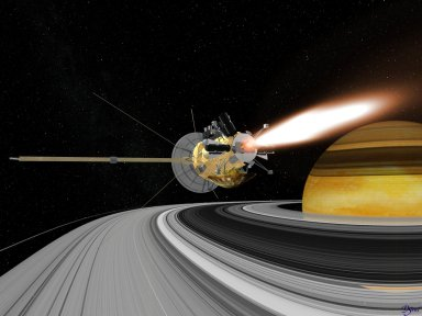 Cassini Engine Burn