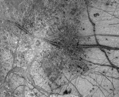 Europa's Active Surface bw