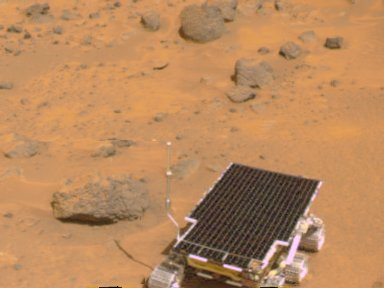 MRPS #81094 (Sol 5) Sojourner near Barnacle Bill - color