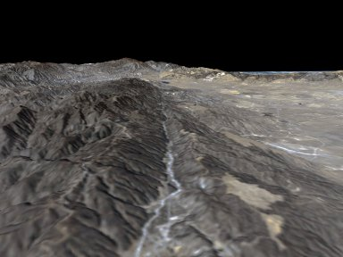 Perspective View, San Andreas Fault