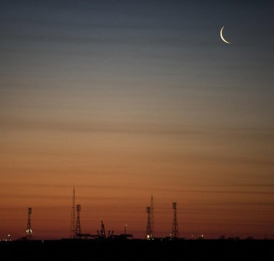 Crescent Moon in Kazakhstan
