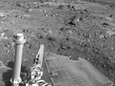Spirit's View Beside 'Home Plate' on Sol 1823