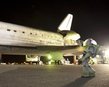 Buzz Lightyear Returns From Space on Discovery
