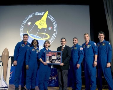 Astronauts of Mission STS-120 visit Stennis Space Center
