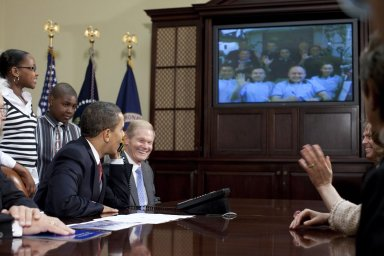 President Obama Speaks with Station Crew