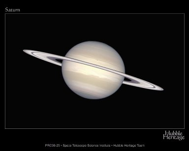Natural Saturn On The Cassini Cruise