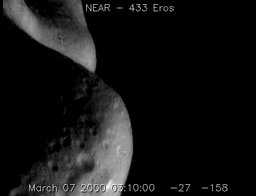 Flying Over Asteroid Eros