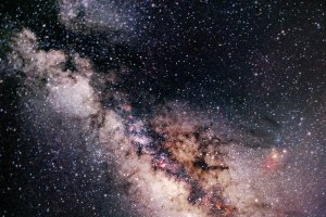 The Milky Way Behind an Eclipsed Moon