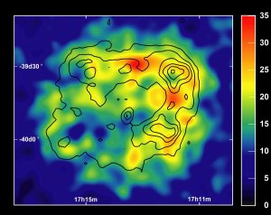 Supernova Remnant Imaged in Gamma Rays