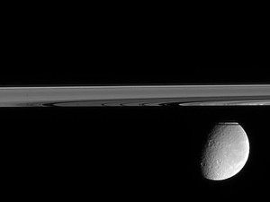 Slightly Beneath Saturn's Ring Plane