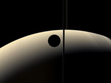 Crescent Rhea Occults Crescent Saturn