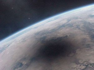 Looking Back at an Eclipsed Earth