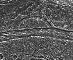 Mysterious Features on Ganymede