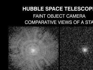 Comparative View of a Star Before and After the Installation of the Corrective Optics Space Telescope Axial Replacement (COSTAR)