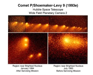 Hubble Space Telescope view of a Comet on a Collision Course with Jupiter
