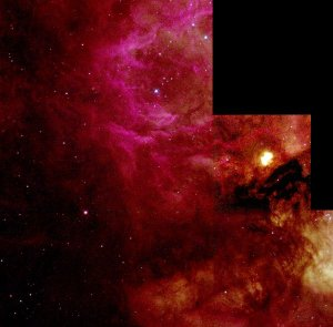 "A Butterfly-Shaped ""Papillon"" Nebula Yields Secrets of Massive Star Birth"