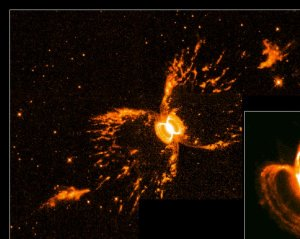 Symbiotic Star Blows Bubbles into Space