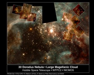 "Hubble Captures a Grand View of the Birth of ""Hefty"" Stars"