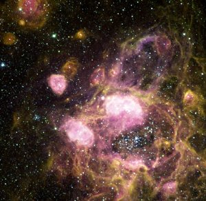 Hubble Studies Generations of Star Formation in Neighboring Galaxy