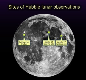 NASA's Hubble Looks for Possible Moon Resources