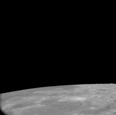 Apollo 11 Mission image - View of Moon,Mare Spumans and beginning of TO 67