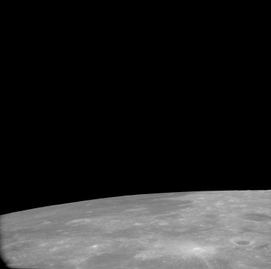 Apollo 11 Mission image - View of Moon, TO 67 and Crater Apollonius