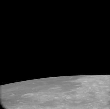 Apollo 11 Mission image - View of Moon, Mare Fecunditatis and TO 67