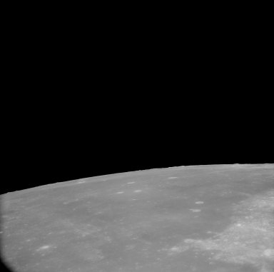 Apollo 11 Mission image - View of Moon,Mare Fecunditatis and TO 67