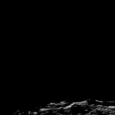 Apollo 11 Mission image - Nearside terminator