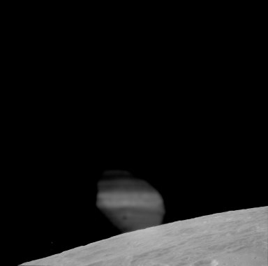 Apollo 11 Mission image - View of Moon,TO 34, western rim of Bay IX