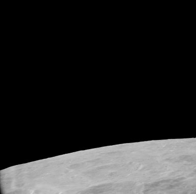 Apollo 11 Mission image - View of Moon, partial of TO 34