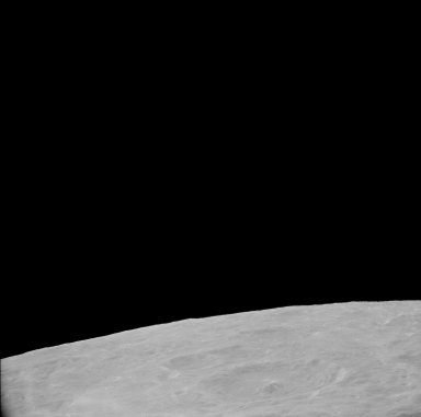 Apollo 11 Mission image - View of Moon, west of TO 34