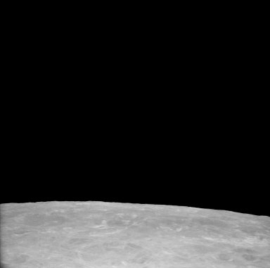 Apollo 11 Mission image - View of Moon, Craters 206, 207, 275, South of TO 50