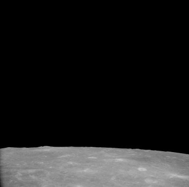 Apollo 11 Mission image - View of Moon,Craters 269 and 195, TO 55