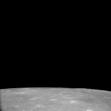 Apollo 11 Mission image - View of Moon,Craters 269 and 195,TO 55
