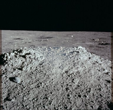 Apollo 12 Mission image - View of lunar surface mound