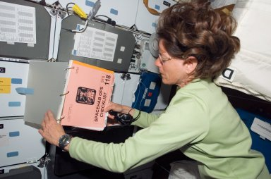 View of Morgan in the MDDK of the Shuttle Endeavour during STS-118