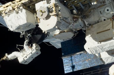 View of MS Williams working with the new CMG at ESP2 during EVA 2