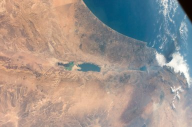Earth view over the Israel