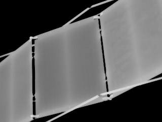 Infrared view of a ISS solar array taken during STS-121 / Expedition 13 joint operations