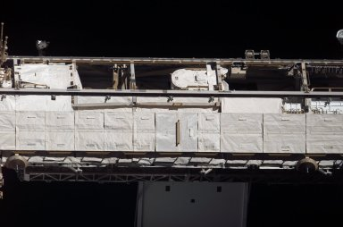 View of the S1 Truss taken from the orbiter after undocking from the ISS during STS-121