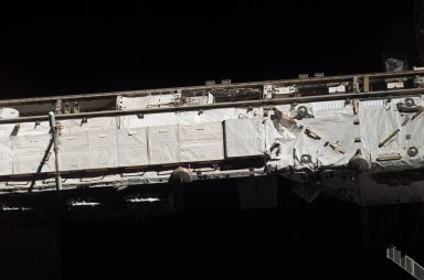 View of the P1 Truss taken from the orbiter after undocking from the ISS during STS-121