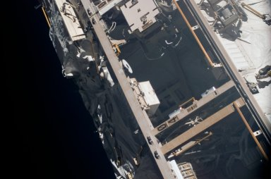 View of Bay 4 on the P1 Truss taken during an ISS survey on STS-121 / Expedition 13 joint operations