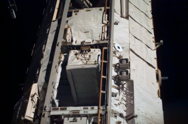View of Bays 6 and 8 on the P1 Truss taken during an ISS survey on STS-121 / Expedition 13 joint operations