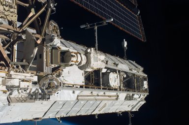 View of the P1 Truss taken during STS-121 / Expedition 13 joint operations