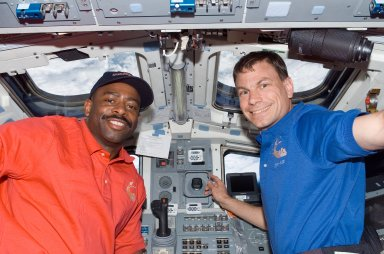 Melvin and Love on FD during STS-122